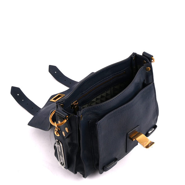 【PROENZA SCHOULER】羊皮POUCH 小型斜背包(午夜藍) PS14100007