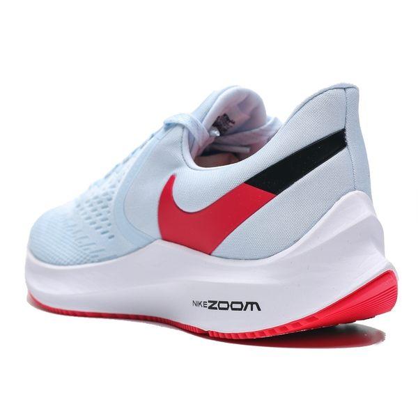 NIKE ZOOM WINFLO 6 淺水藍 紅底 橘勾 訓練 輕量 慢跑 女(布魯克林) AQ8228-401