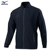 MIZUNO 男裝 外套 立領 套裝 抗紫外線 兩側口袋拉鍊 彈性 黑【運動世界】32TC108199