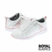 Royal Elastics Zephyr 經典運動-白x粉紅x英倫格紋