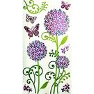 【收藏天地】創意生活*彩色裝飾壁貼-繡球花