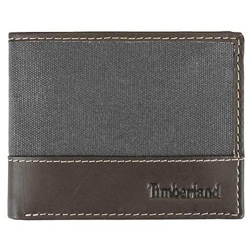 Timberland-時尚皮革帆布皮夾