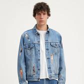 Levis X 怪奇物語限量聯名 / 男女同款 牛仔外套 / 復古寬袖落肩版型