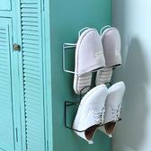 ◄ 生活家精品 ►【Y03-1】雙層壁掛式鞋架 掛架 壁掛式壁掛鞋架 浴室 拖鞋架 家用 客廳 鞋托