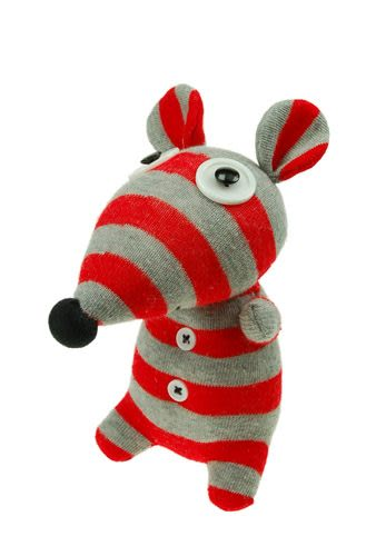 襪套娃娃小老鼠造型 20cm【Les Petites Marie】