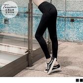 《KS0729》台灣製造.高彈力造型口袋高腰運動貼腿褲 OrangeBear