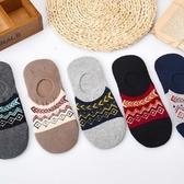 襪子【FSM015】北歐圖騰男船型短襪 短襪 運動襪 條紋襪 毛巾襪 船型襪 男女襪 學生襪-123ok