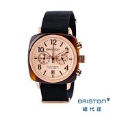 【官方旗艦店】BRISTON 手工方糖錶 折射光感 玫瑰金 時尚百搭 禮物首選