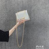 上新小包包女新款仙女高級感洋氣鐳射亮片斜背果凍透明包 伊莎公主
