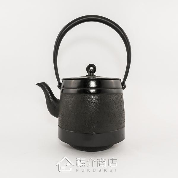日本鑄鐵壺南部鐵器-【岩鑄落款清末】道風1.8L~鑄鐵壺-茶壺