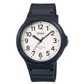 【CASIO】 大錶面簡約文青休閒錶-數字白面(MW-240-7B)