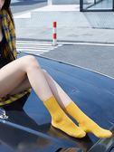 堆堆襪女秋冬季中筒襪韓版學院風日系棉襪薄款春秋潮襪百搭襪子女『新佰數位屋』