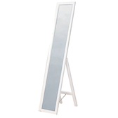 【YFS】傑西實木白色落地鏡-30x37x150cm