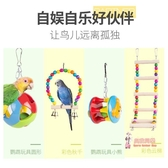 鳥玩具鸚鵡玩具用品鳥用秋千吊環雲梯爬梯虎皮牡丹玄鳳鳥籠梯子啃咬攀爬