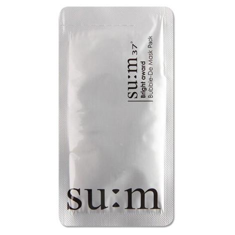 面膜 保養品 韓國 洗臉韓國 su:m37呼吸泡沫面膜(黑色)3ml / 三合一氧氣泡泡面膜(白色)4.5ml