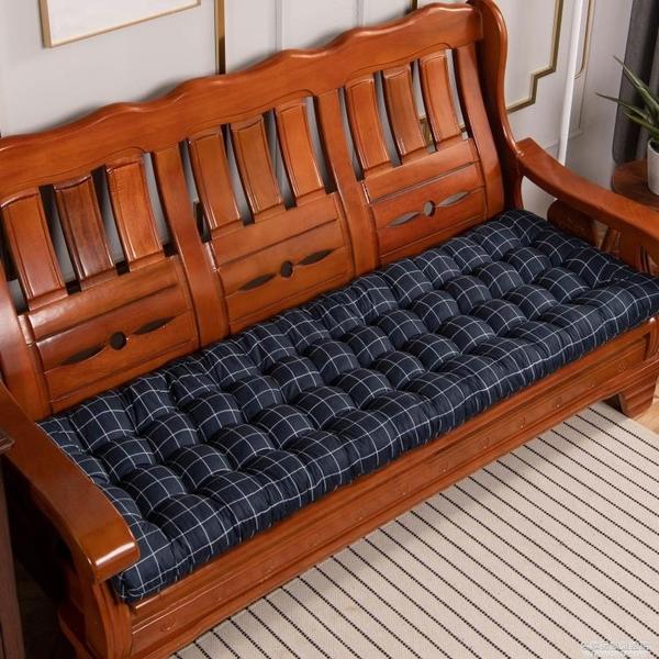 實木沙發墊四季通用長條墊子坐墊老式木質三人位座墊紅木木頭加厚 NMS名購新品