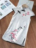 夏季新款兒童旗袍女童漢服寶寶薄款洋氣公主裙子風小女孩童裝小天使