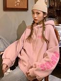 連帽外套 衛衣女秋冬2021新款寬鬆韓版上衣潮ins超火百搭加絨加厚連帽外套 韓國時尚週