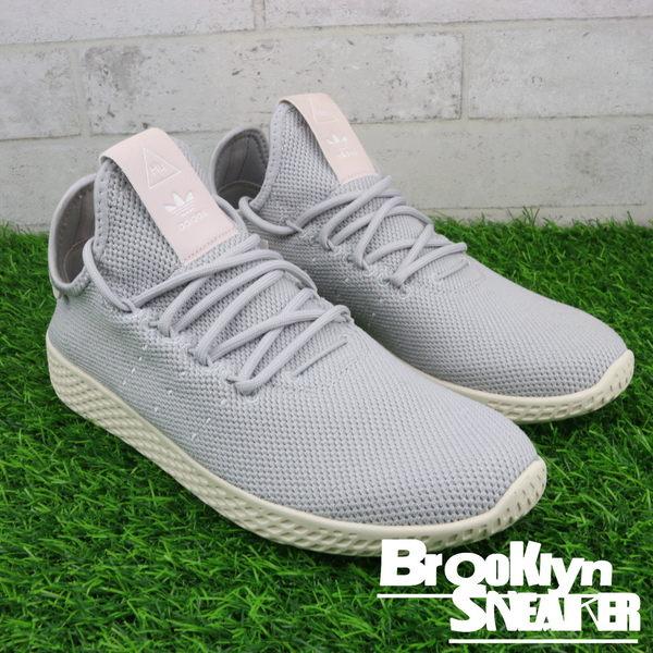 Adidas Pharrel Tennis HU 淺灰 菲董聯名 慢跑 女 (布魯克林)  DB2553