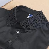 假領子襯衫穿搭假領片 洋裝罩衫大學T針織衫內搭黑白色[E1476] 滿額送愛康衛生棉預購.朵曼堤洋行