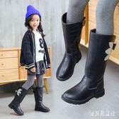 女童長筒靴 女童靴子長筒靴公主兒童棉靴2018新款秋冬棉靴子中大童高筒靴 CP1473『寶貝兒童裝』