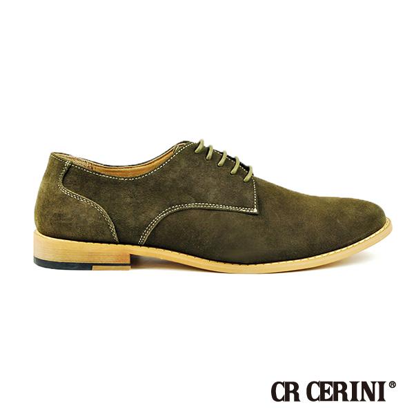 【CR CERINI】都會簡約麂皮休閒鞋 綠色(90243-TUR)