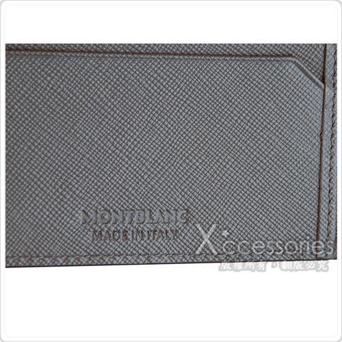 萬寶龍MONTBLANC Sartorial匠心系列防刮牛皮6卡對折短夾(灰)