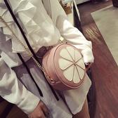 單肩包 迷你小潮小圓包時尚百搭單肩斜背包鍊條花瓣女包 - 歐美韓熱銷