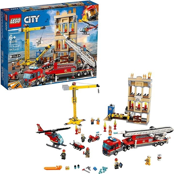 LEGO 樂高 City Downtown Fire Brigade 60216 Building Kit(943件)