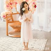 中長款女童睡裙 春秋兒童睡衣長袖全棉女孩家居服女童春裝新款 BT791『寶貝兒童裝』