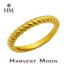 Harvest Moon 富家精品 黃金尾戒 節節高升 9999 純金金飾 女尾戒子 黃金戒指 可調式戒圍 GR03135