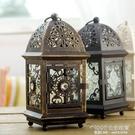 歐式燭台復古雕花鐵藝蠟燭台家居工藝品創意擺件婚慶禮物 1995生活雜貨