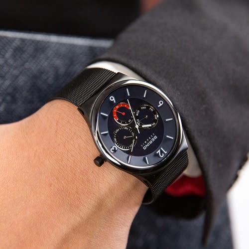 BERING 丹麥精品手錶 Ceramic 高貴科技時尚陶瓷腕錶/藍 33440-227 熱賣中!