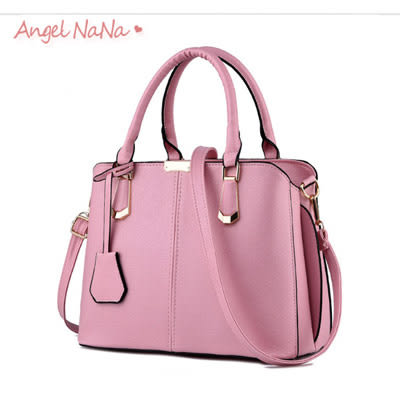 手提包。AngelNaNa 韓版OL 定型 吊飾  女斜背包(SBA0159)