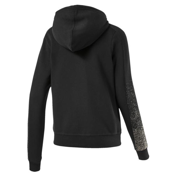 Puma Holiday 女 黑 外套 連帽外套 長袖 棉質 運動 休閒 內刷毛 運動外套 58185401