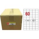 【奇奇文具】龍德 LD-839-W-B白60格三用標籤1000張入
