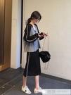 早秋套裝女2019新款時尚運動休閒連帽衛衣 半身裙初秋氣質兩件套 韓慕精品