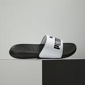 Puma POPCAT 20, 3 黑白 運動 休閒 拖鞋 372279-09