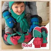 恐龍 保暖手套紅STERNTALER C 4321503 755