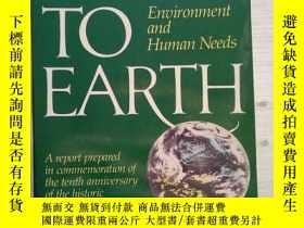 二手書博民逛書店DOWN罕見TO EARTH:ENVIRONMENT AND H