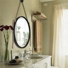 化妝鏡 歐式鐵藝浴室鏡化妝鏡壁掛鏡圓形鏡試衣鏡創意鏡浴室鏡子