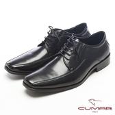 CUMAR紳士專屬真皮綁帶皮鞋-黑