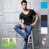 【MORINO】抗菌防臭速乾短袖V領衫(一件組)