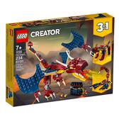 31102【LEGO 樂高積木】創意大師 Creator 系列 - 火龍 (234pcs)