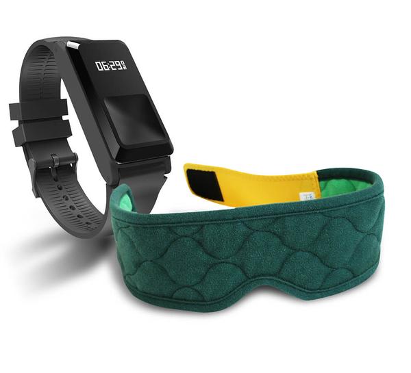 麗臺奈米舒壓帶(綠)+amor H2健康手環