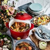 【送專用圓形烤盤】BRUNO 萬能調理鍋 紅色 白色 電火鍋 陶瓷不沾鍋 原廠公司貨 保固一年