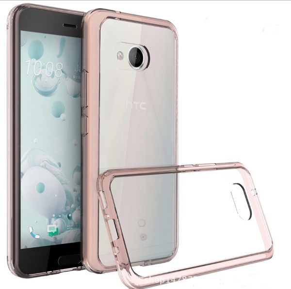 秋奇啊喀3C配件--HTC U11 5.5吋 晶透亞克力手機殼 TPU 邊框 歐美熱銷防摔透明殼