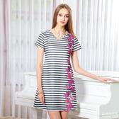 【岱妮蠶絲】高雅美V領蠶絲短袖洋裝