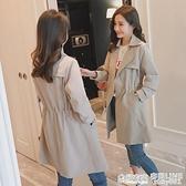 風衣外套加絨加厚中長款2020秋冬季新款韓版流行氣質顯瘦時尚上衣 全館鉅惠