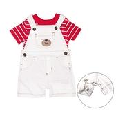 【北投之家】男寶寶吊帶褲套裝 吊帶短褲+T恤上衣 二件組 白熊 | Carter s卡特童裝 (嬰幼兒/兒童)